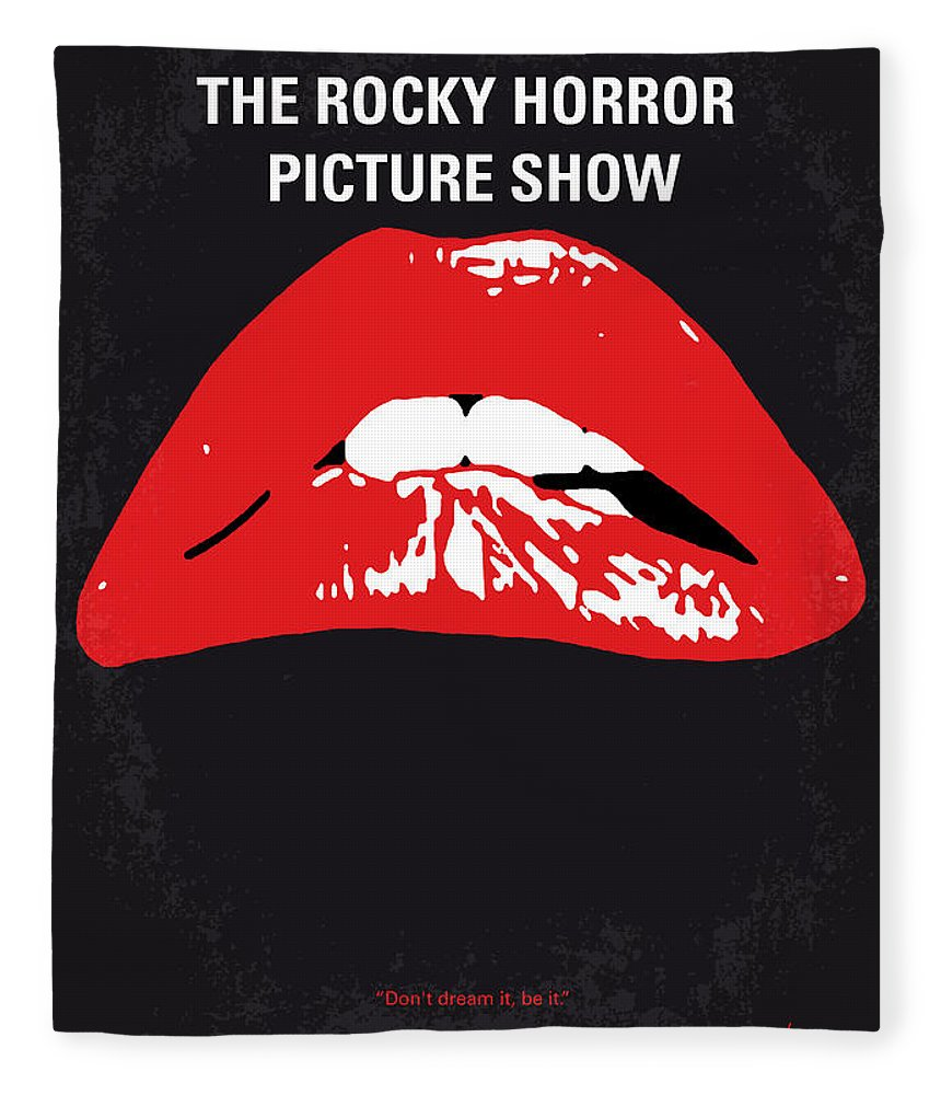 The Fleece Blanket featuring the digital art No153 My The Rocky Horror Picture Show minimal movie poster by Chungkong Art