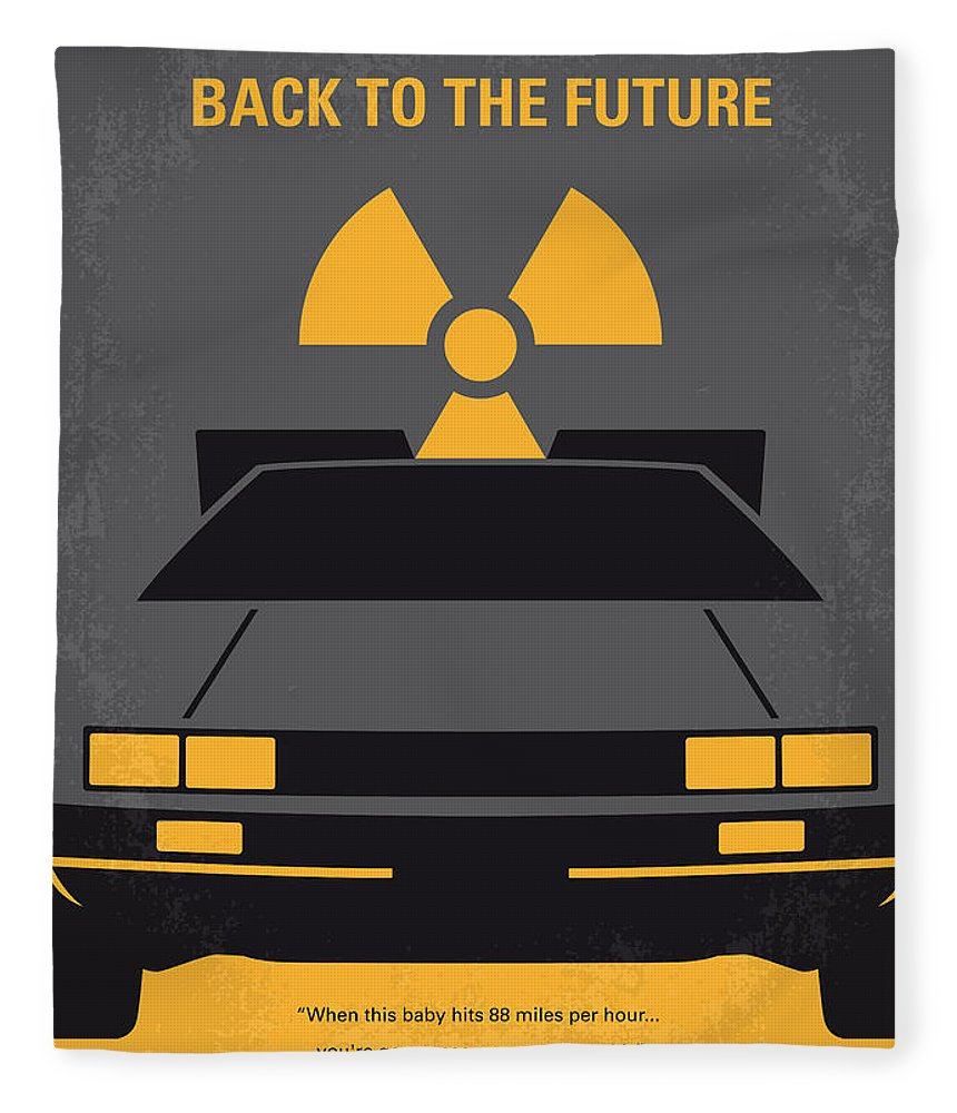 Back Fleece Blanket featuring the digital art No183 My Back to the Future minimal movie poster by Chungkong Art