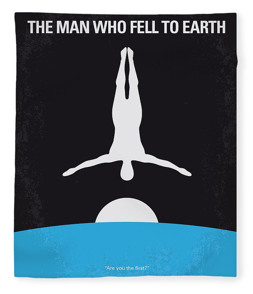 Man Fleece Blanket featuring the digital art No208 My The Man Who Fell To Earth Minimal Movie Poster by Chungkong Art
