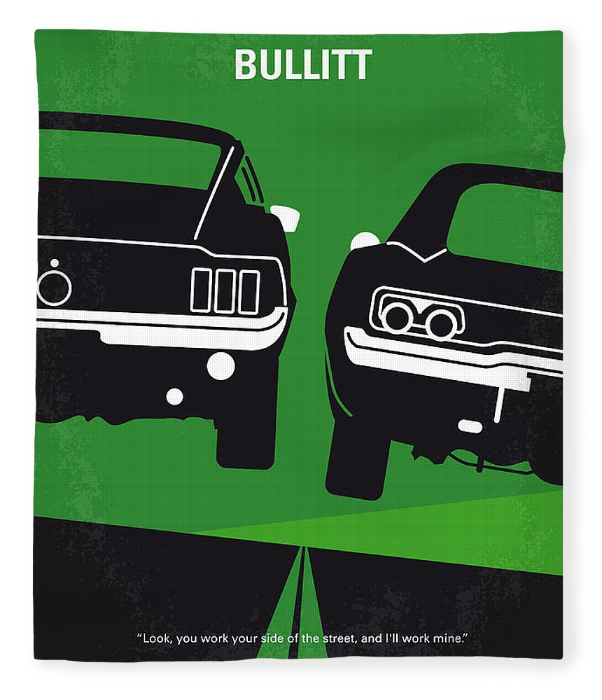 Frank Fleece Blanket featuring the digital art No214 My BULLITT minimal movie poster by Chungkong Art