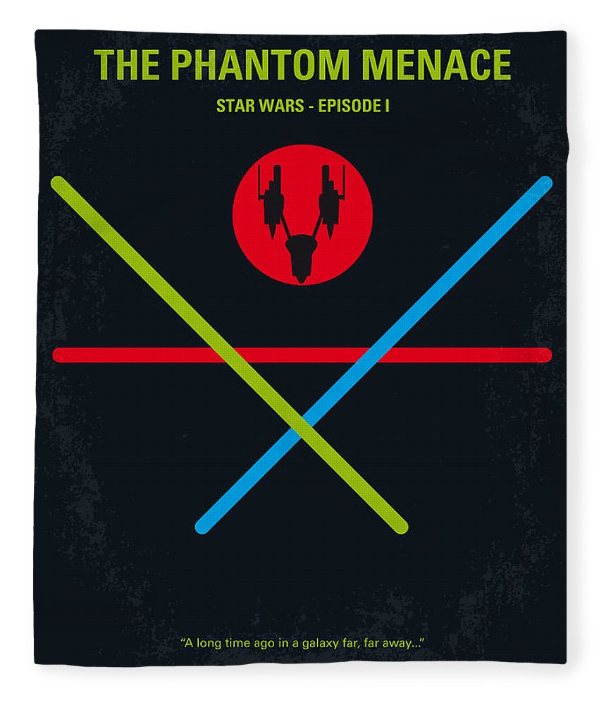 Star Fleece Blanket featuring the digital art No223 My Star Wars Episode I The Phantom Menace Minimal Movie Poster by Chungkong Art