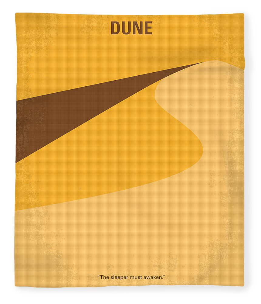 Dune Fleece Blanket featuring the digital art No251 My Dune Minimal Movie Poster by Chungkong Art