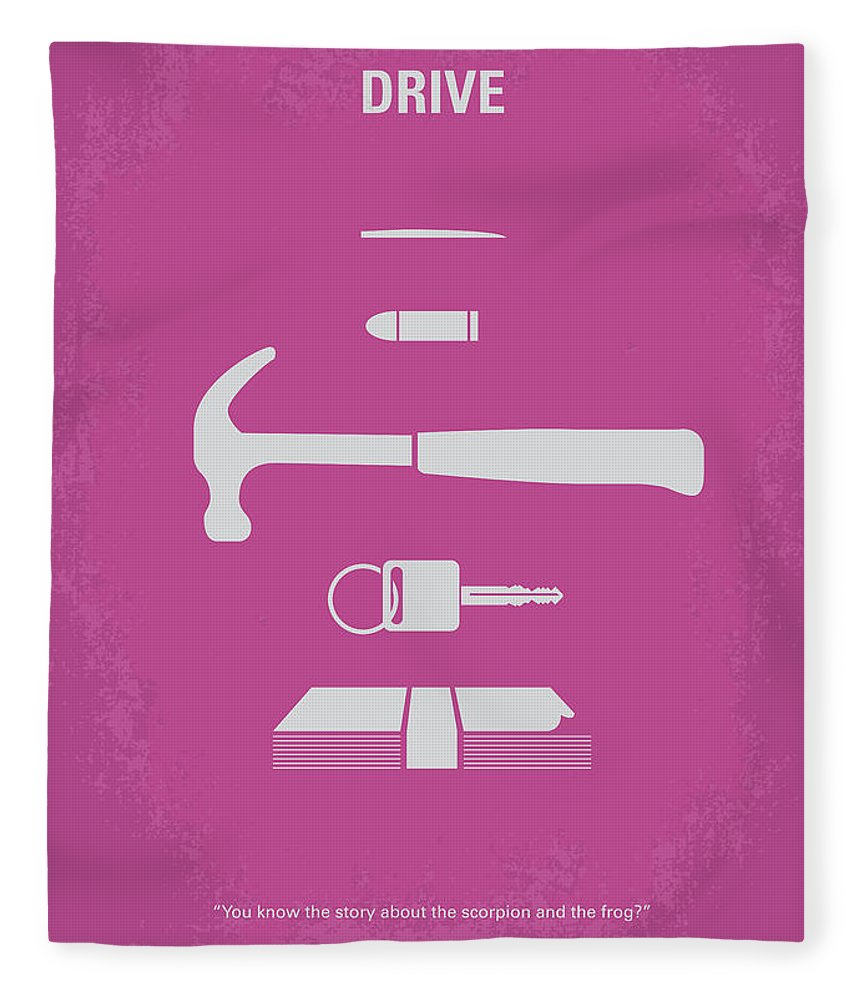 Drive Fleece Blanket featuring the digital art No258 My Drive Minimal Movie Poster by Chungkong Art