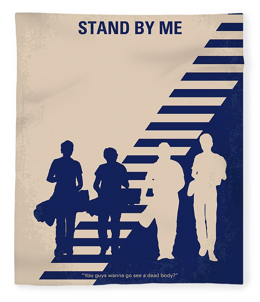 Stand Fleece Blanket featuring the digital art No429 My Stand By Me Minimal Movie Poster by Chungkong Art