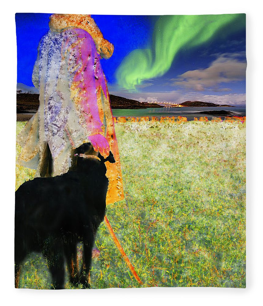 Shepherd Fleece Blanket featuring the photograph Northern Lights by Chuck Staley