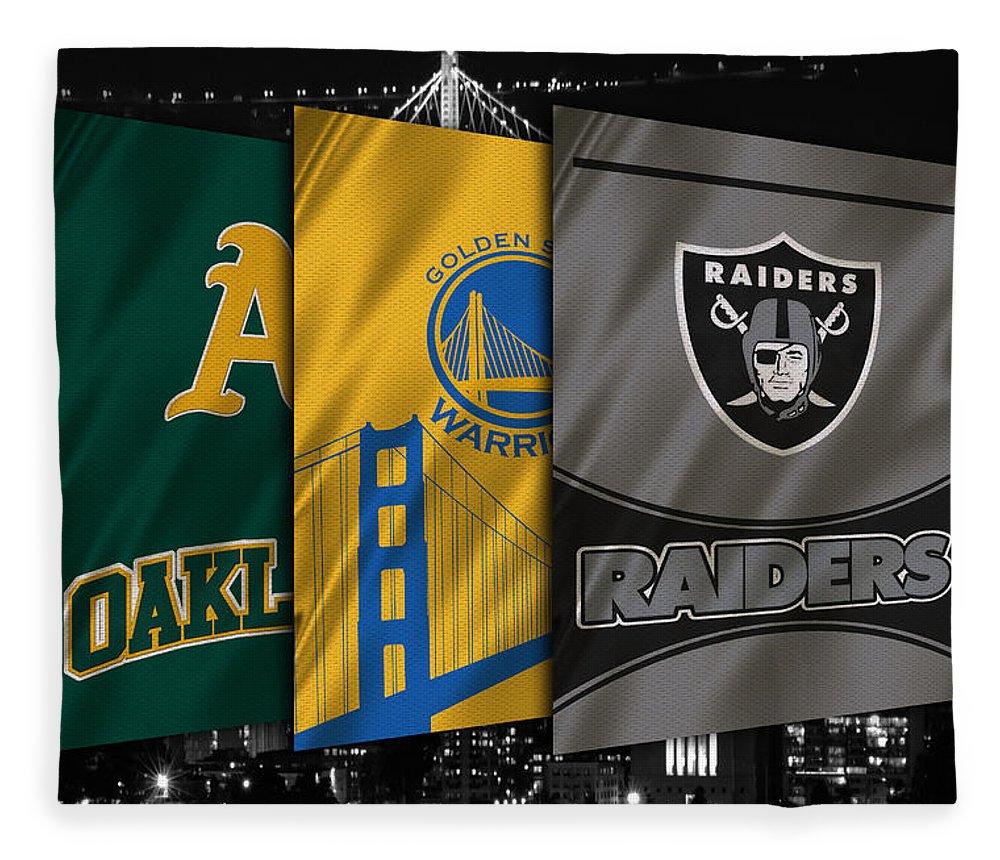 Raiders Fleece Blanket featuring the photograph Oakland Sports Teams by Joe Hamilton