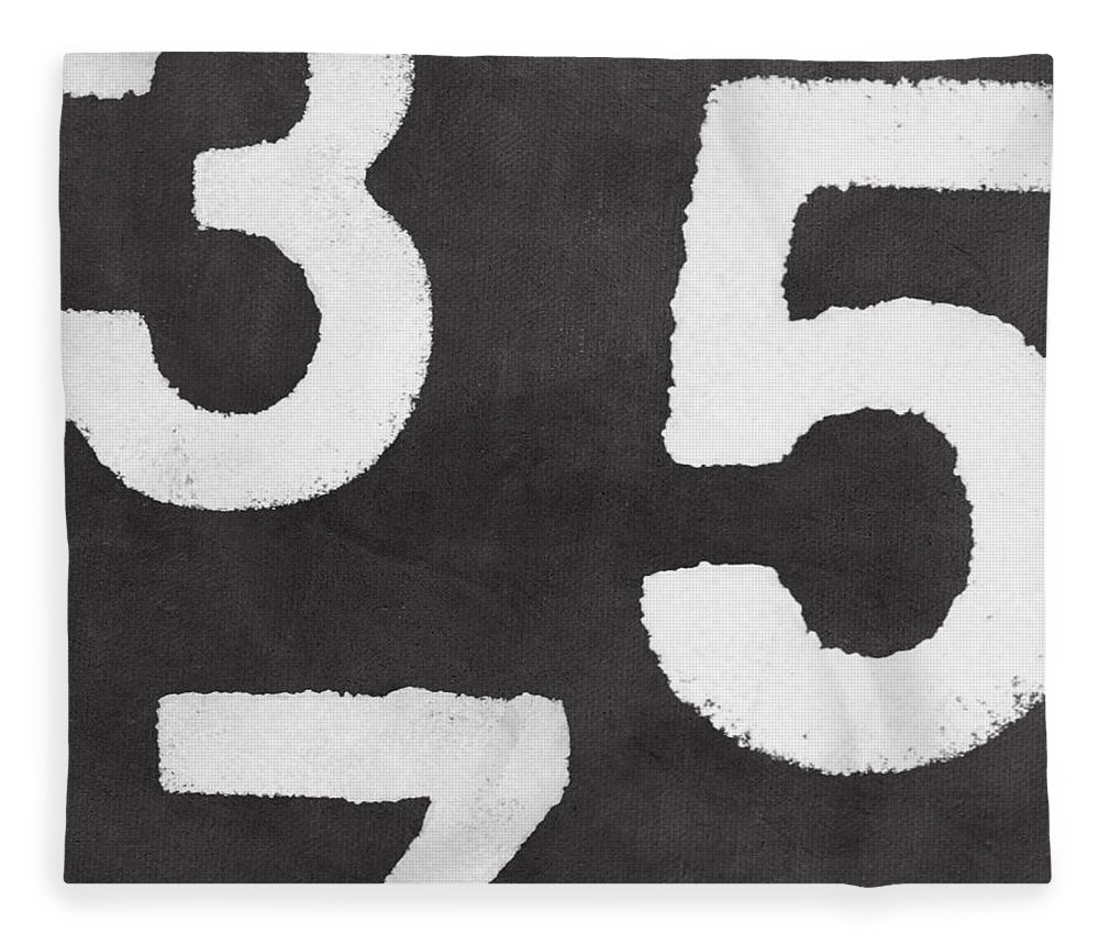 Odd Numbers Fleece Blanket featuring the painting Odd Numbers by Linda Woods