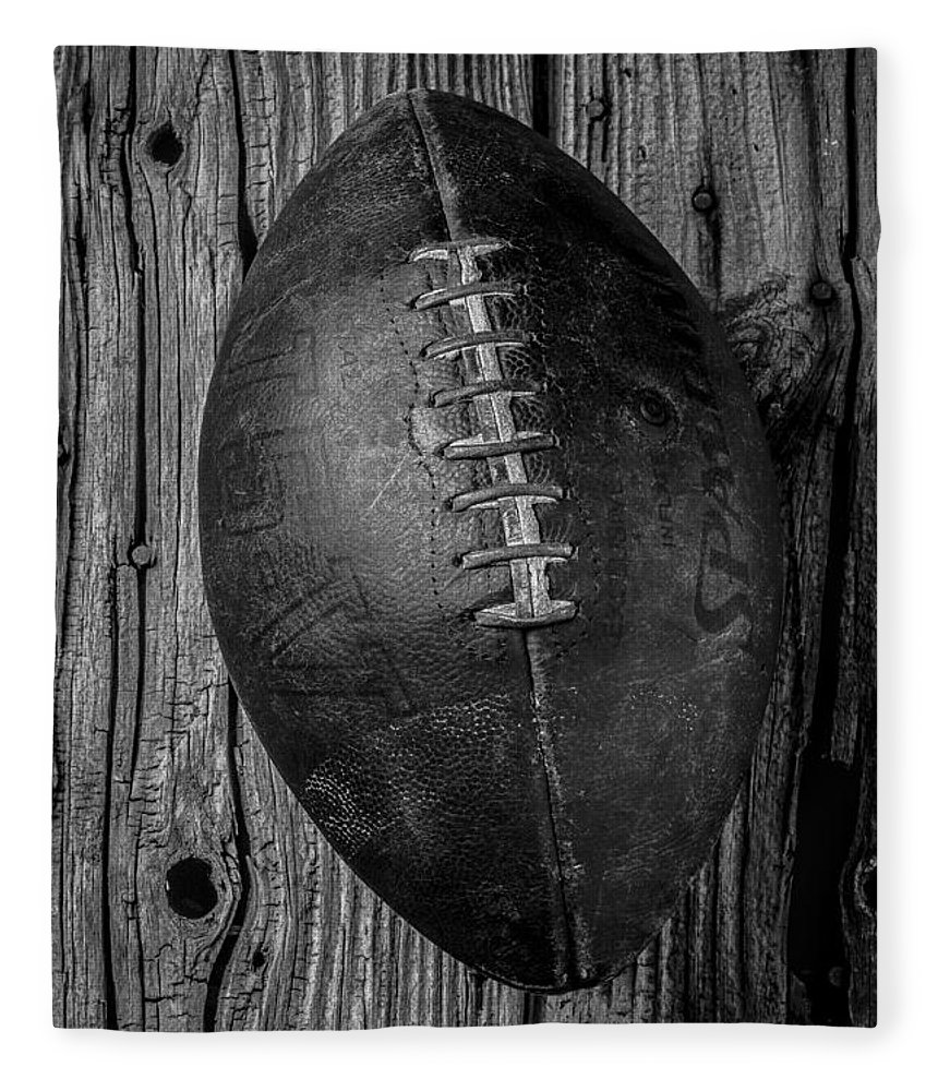 Old Fleece Blanket featuring the photograph Old Football by Garry Gay
