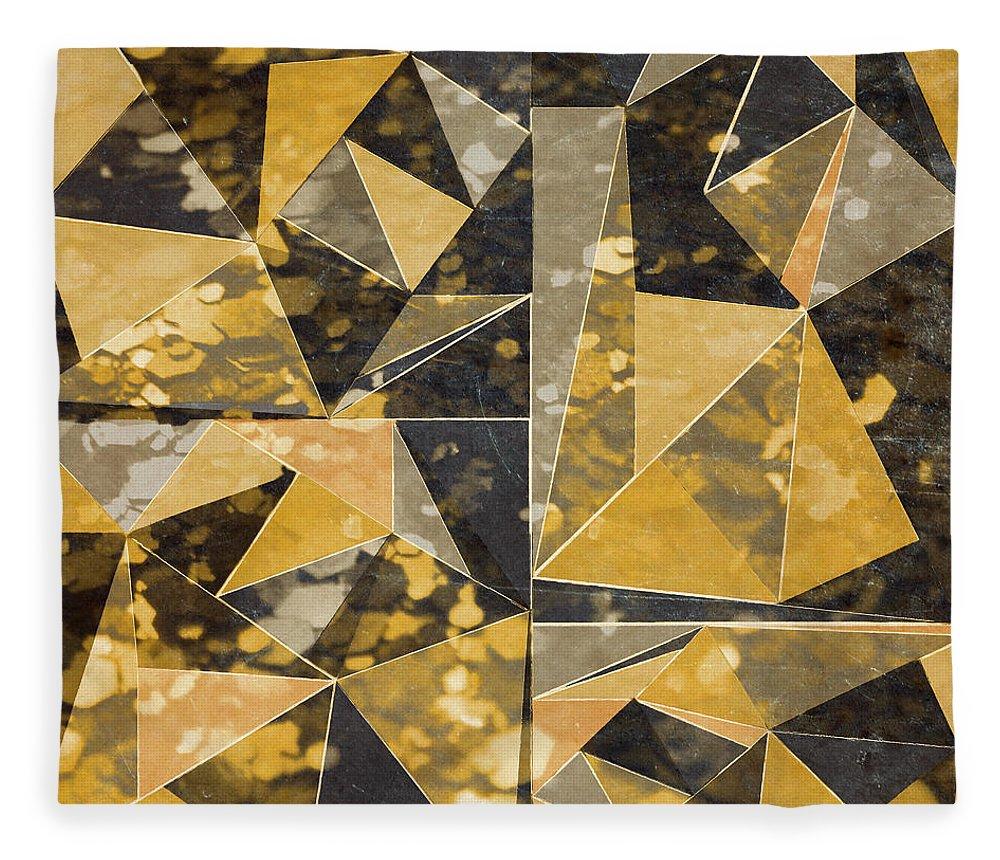 Omg Fleece Blanket featuring the digital art Omg Modern Triangles II by south Social Studio
