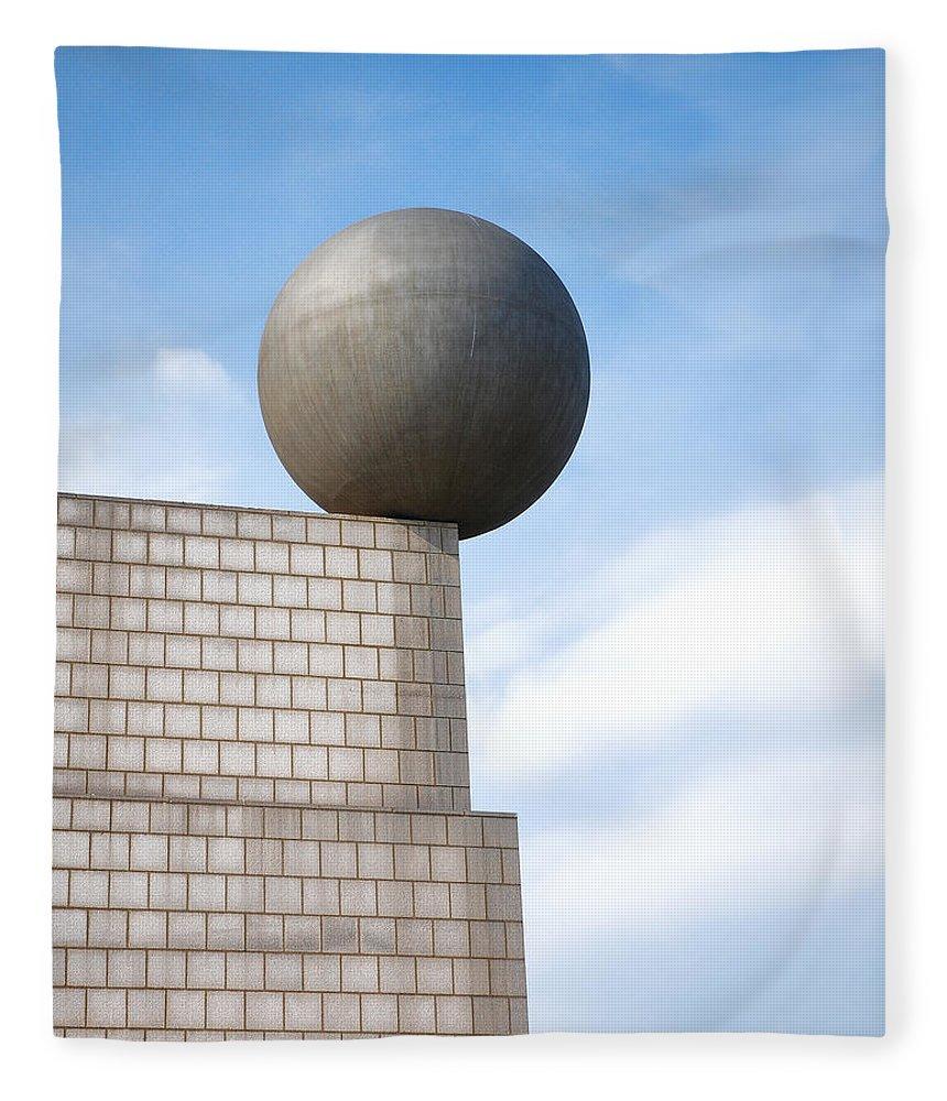 Barcelona Fleece Blanket featuring the digital art On Edge by Anita Hubbard