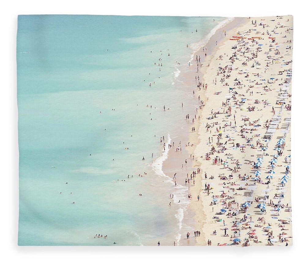 Water's Edge Fleece Blanket featuring the photograph Ondarreta Beach, San Sebastian, Spain by John Harper