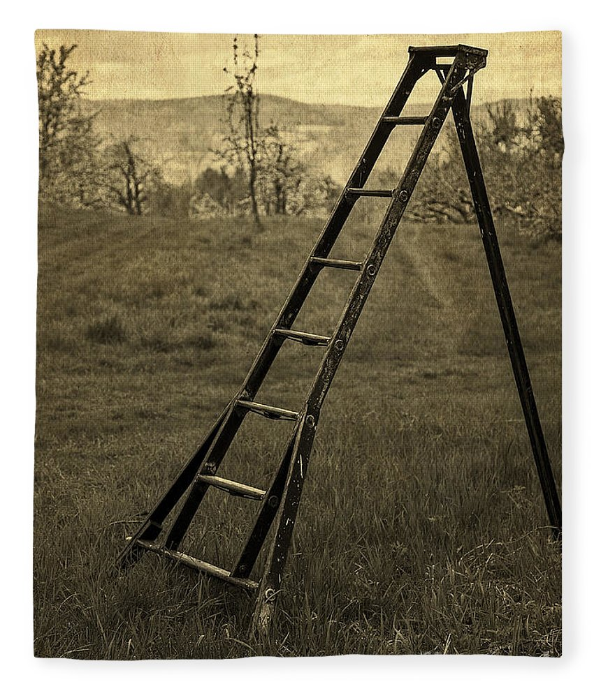 Orchard Ladder Fleece Blanket