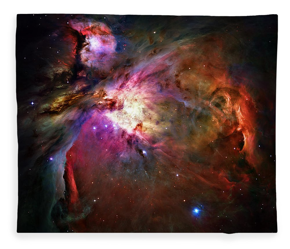 Messier 42 Fleece Blanket featuring the photograph Orion Nebula by Ricky Barnard