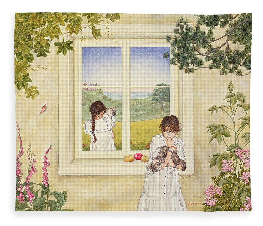 Window Fleece Blanket featuring the photograph Outside Out Times Julie, 1988 by Ditz