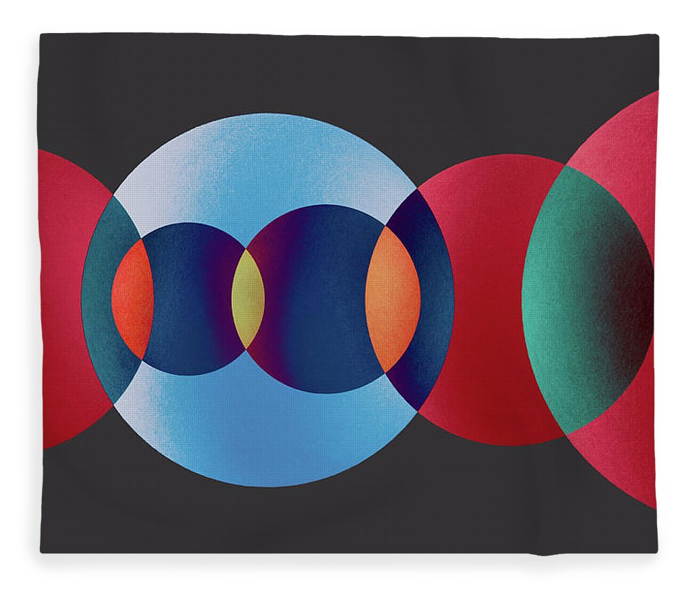 Art Fleece Blanket featuring the photograph Overlapping Multi-colored Circles by Miragec