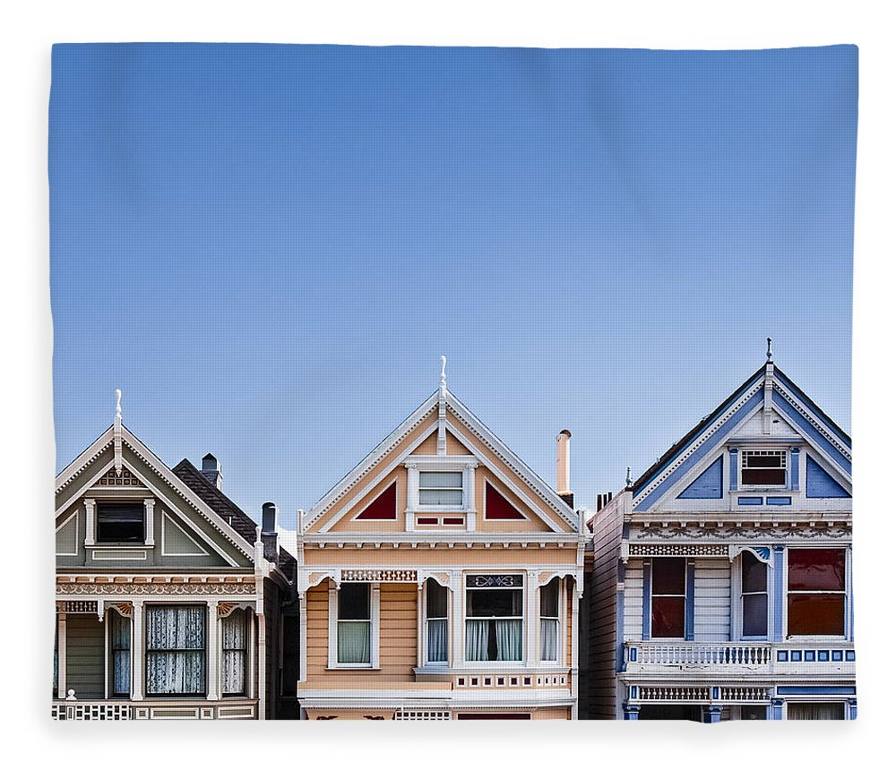 Painted Ladies Fleece Blanket featuring the photograph Painted Ladies by Dave Bowman