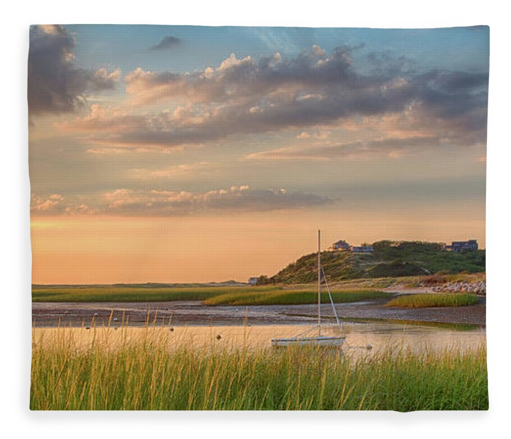Scenics Fleece Blanket featuring the photograph Pamet Harbor In Afternoon by Betty Wiley
