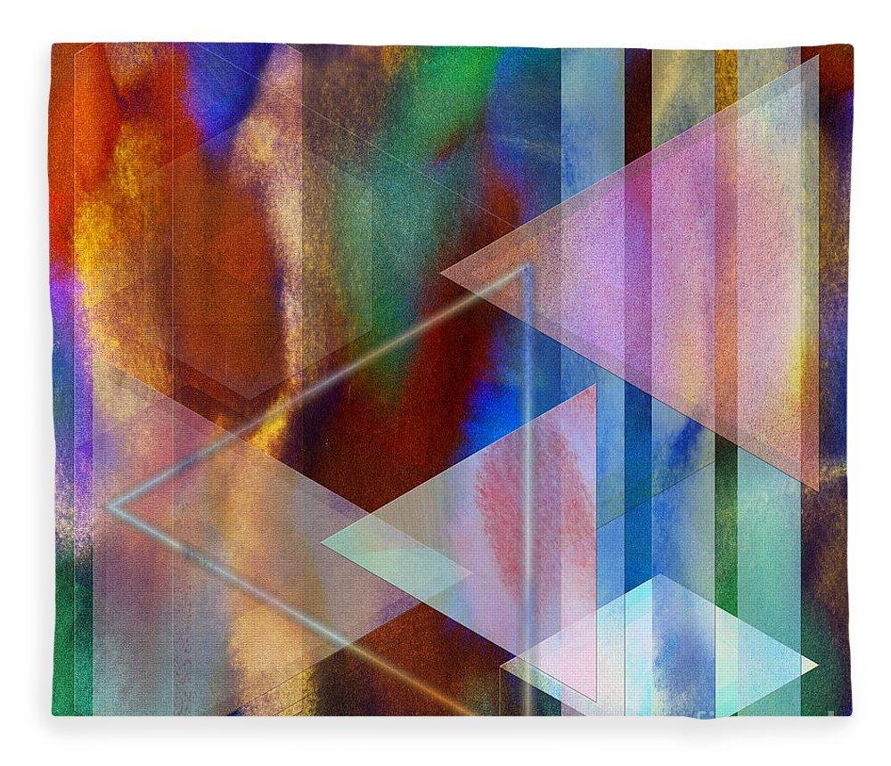 Pastoral Midnight Fleece Blanket featuring the digital art Pastoral Midnight - Square Version by John Robert Beck
