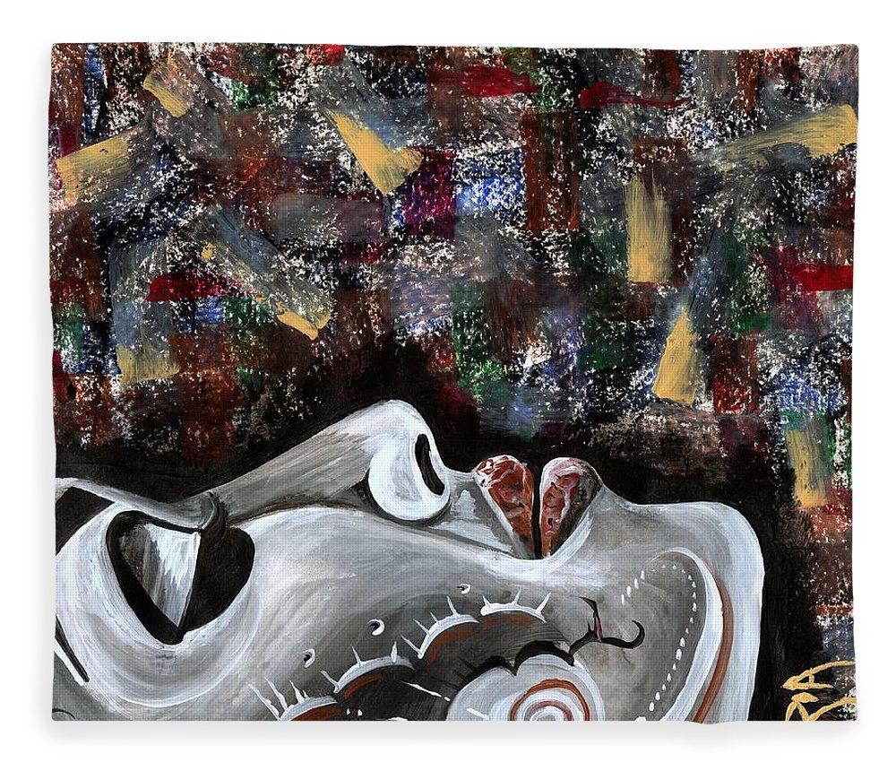 Art Fleece Blanket featuring the photograph Peace Amidst Turmoil by Artist RiA