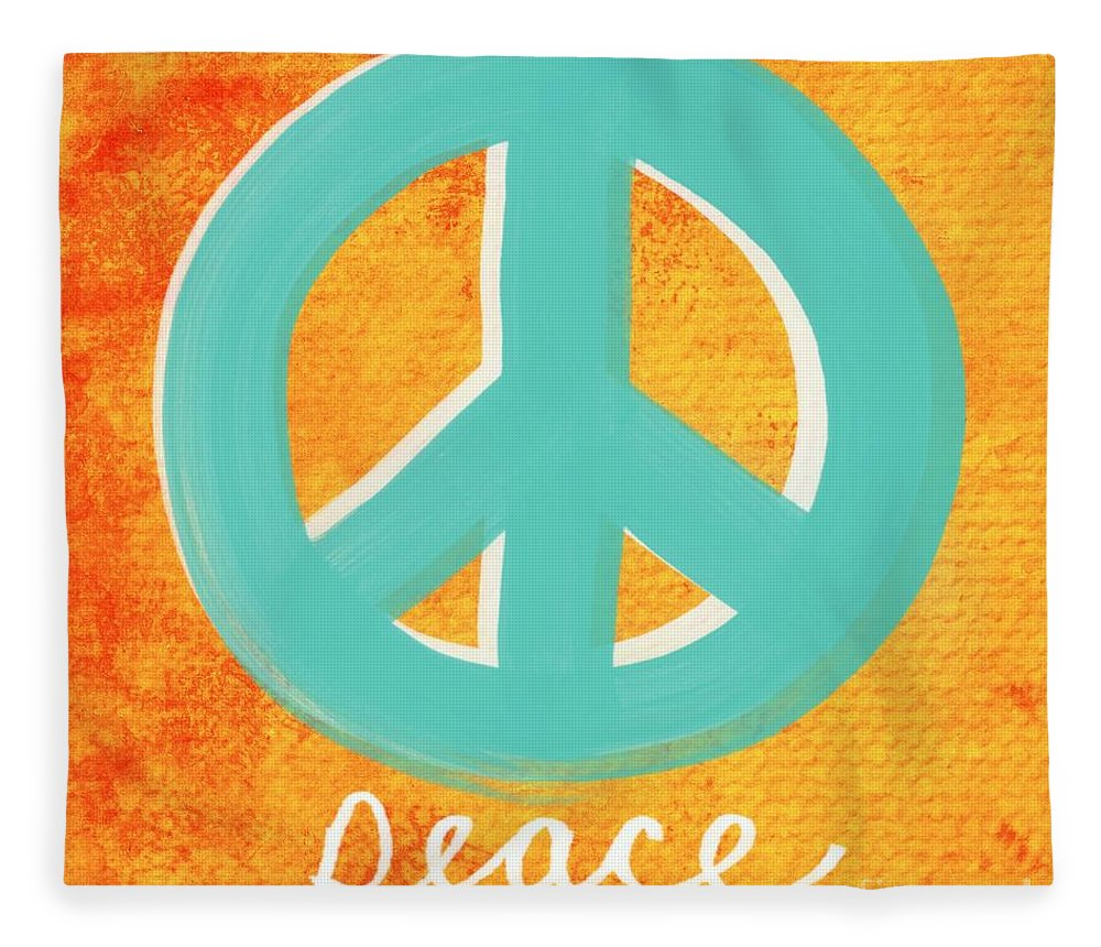 Peace Fleece Blanket featuring the painting Peace by Linda Woods