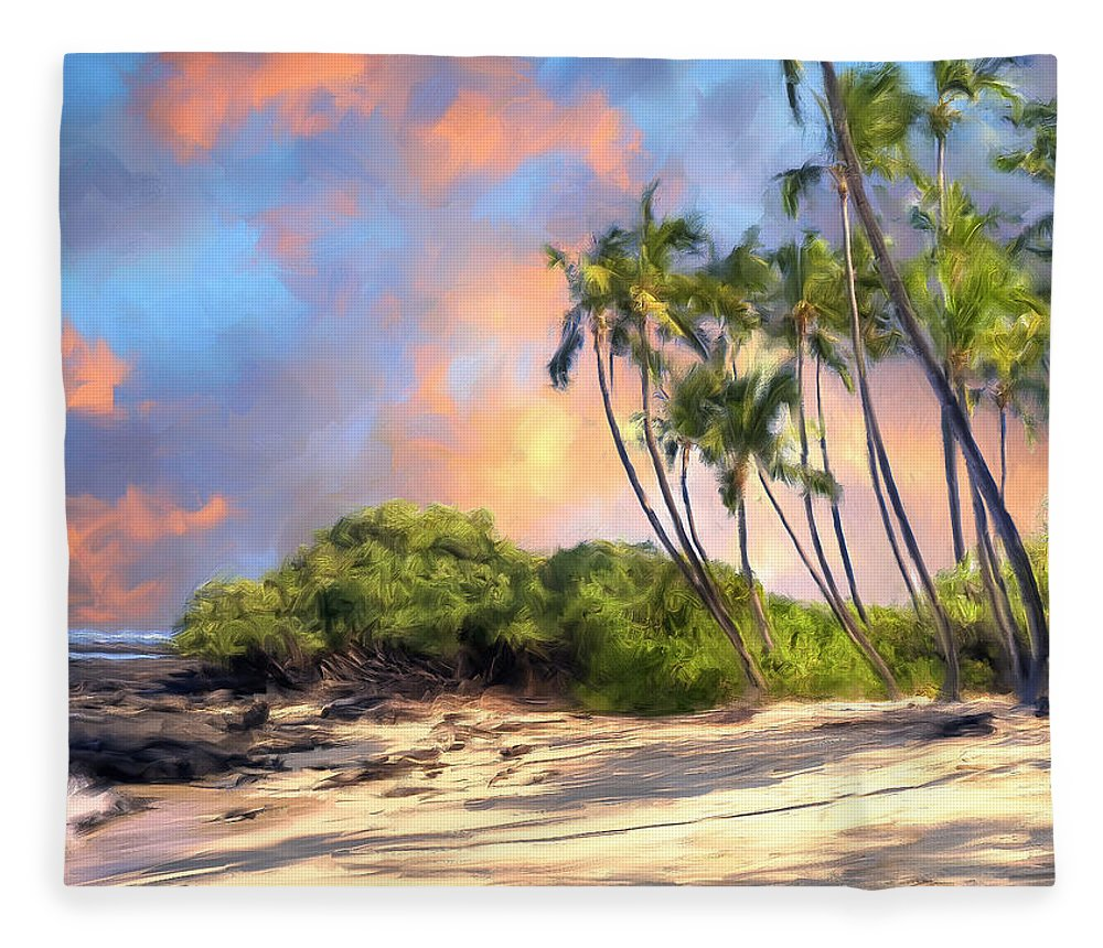 Perfect Moment Fleece Blanket featuring the painting Perfect Moment by Dominic Piperata