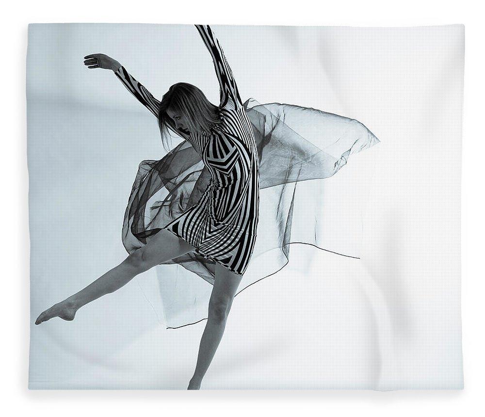Ballet Dancer Fleece Blanket featuring the photograph Photofusion Shoot Jan 2013 by Maya De Almeida Araujo