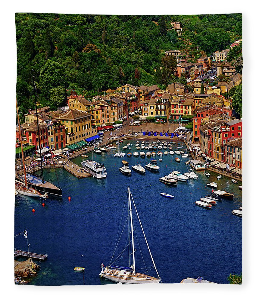 Treetop Fleece Blanket featuring the photograph Portofino by Roman Makhmutov