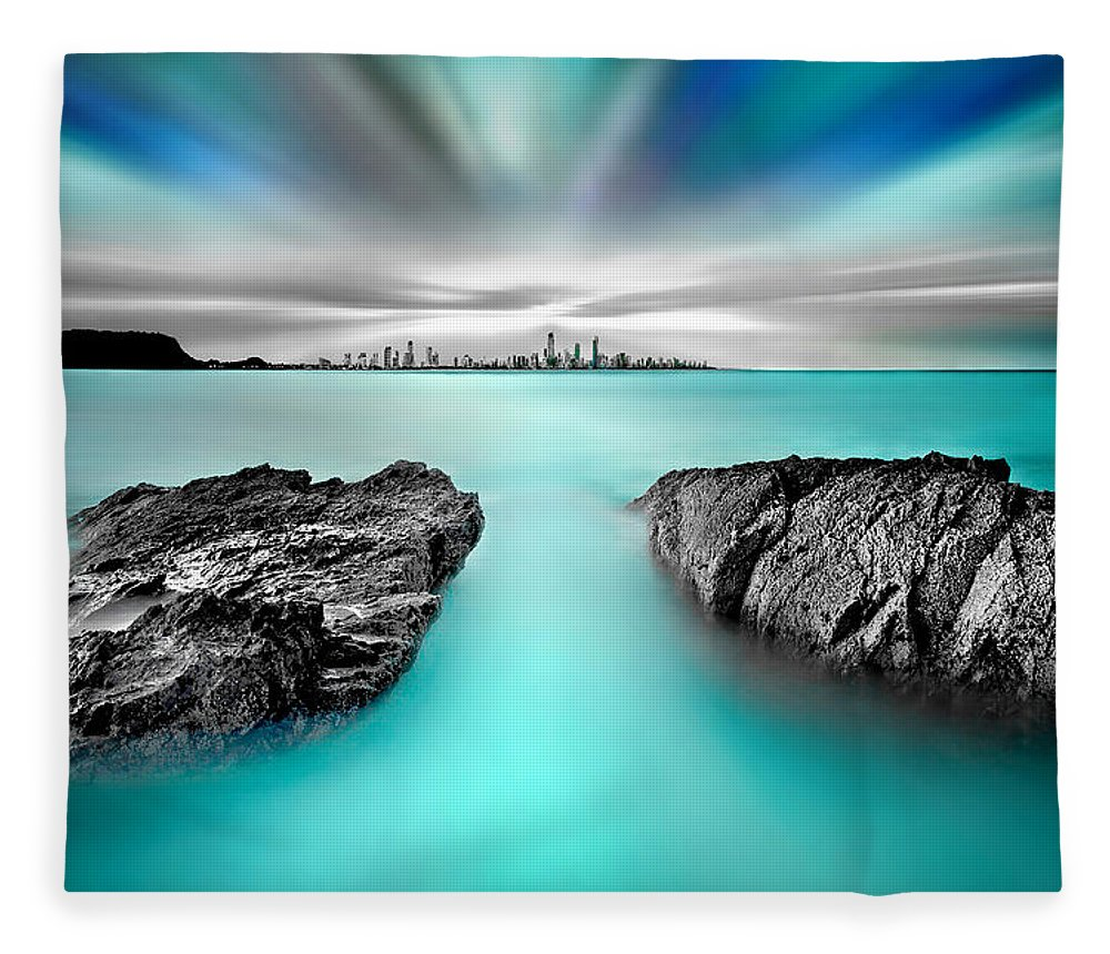 Gold Coast Fleece Blanket featuring the photograph Quantum Divide by Az Jackson