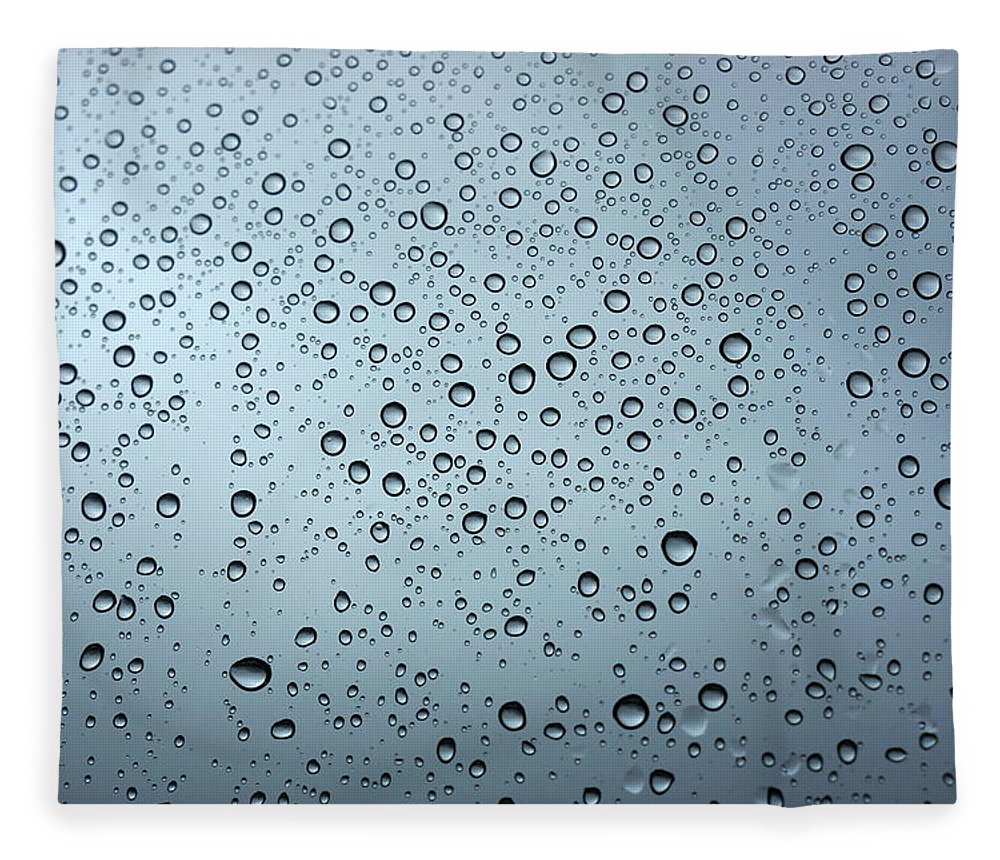 Horizontal Fleece Blanket featuring the photograph Rainy Day Out by Nigel Killeen