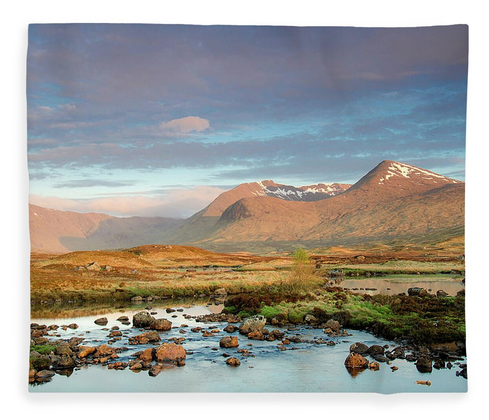 Scenics Fleece Blanket featuring the photograph Rannoch Moor by Mike Dow Photography