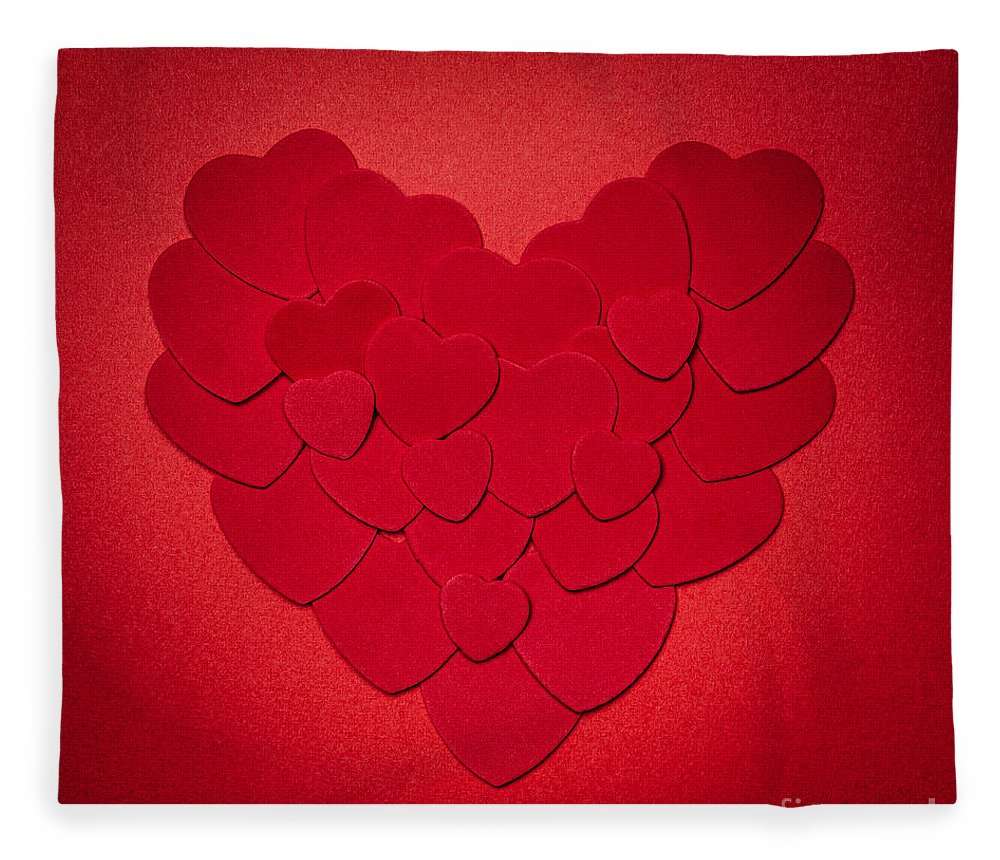 Heart Fleece Blanket featuring the photograph Red Heart by Elena Elisseeva