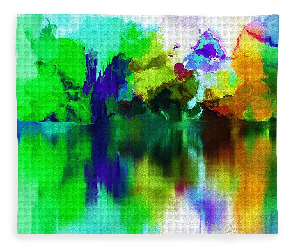 Fine Art Fleece Blanket featuring the digital art Reflections 012013 by David Lane