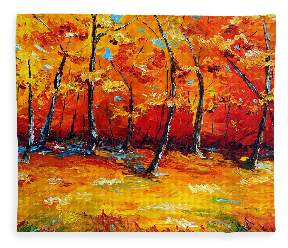 Tree Fleece Blanket featuring the painting Resting In Your Shadow by Meaghan Troup