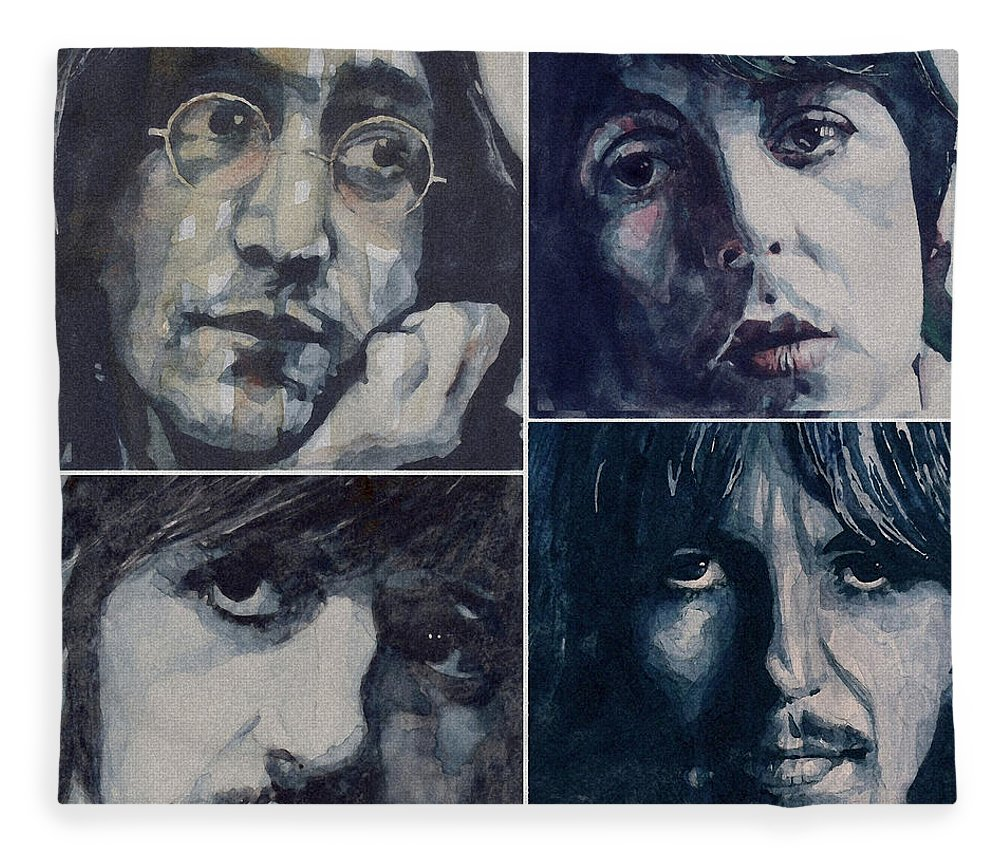 The Beatles Fleece Blanket featuring the painting Reunion by Paul Lovering