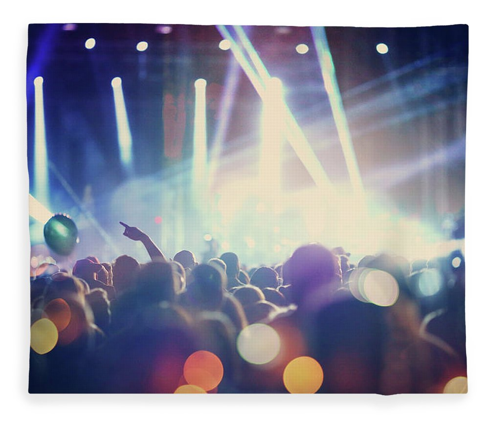 Event Fleece Blanket featuring the photograph Rock Concert by Gilaxia