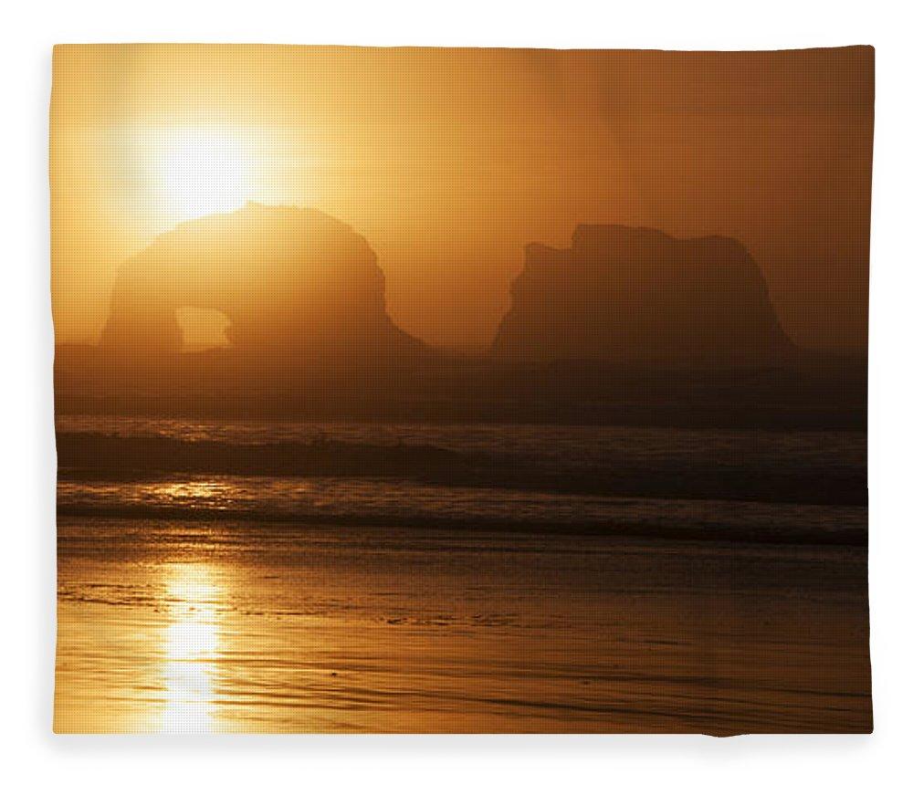 Rockaway Beach Fleece Blanket featuring the photograph Rockaway Beach by Vivian Christopher