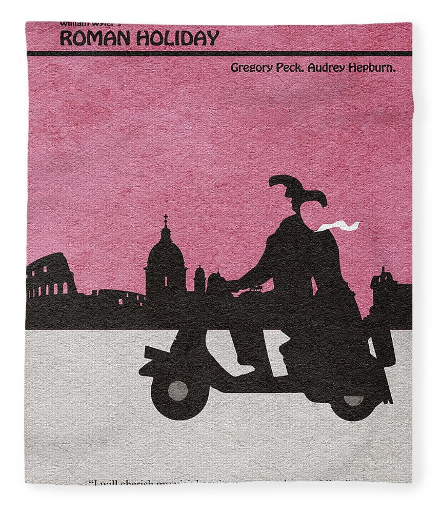 Roman Holiday Fleece Blanket featuring the drawing Roman Holiday by Inspirowl Design