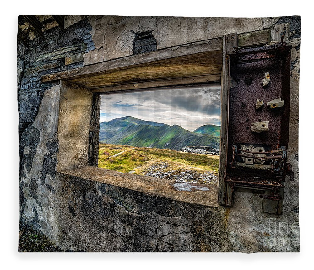 Abandoned Fleece Blanket featuring the photograph Ruin With A View by Adrian Evans