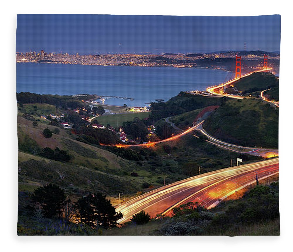 Scenics Fleece Blanket featuring the photograph S Marks The Spot by Vicki Mar Photography