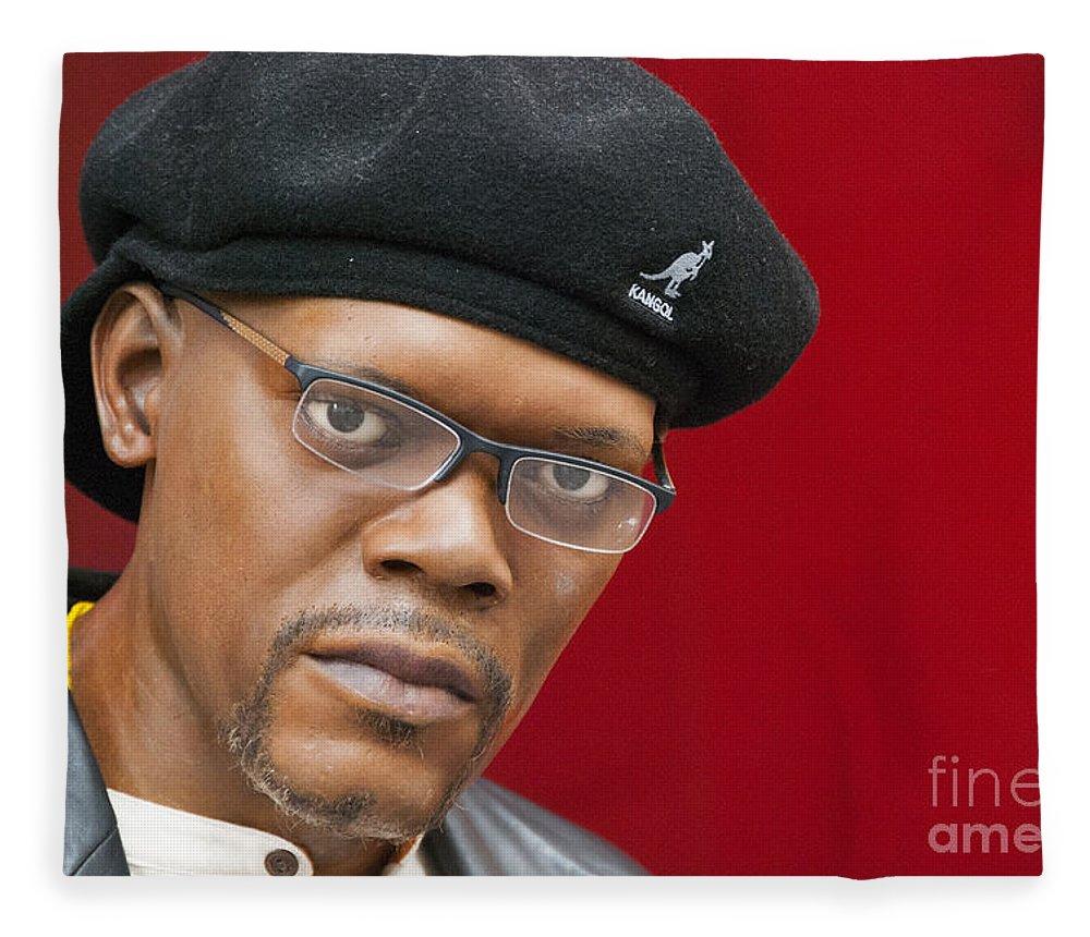 42nd Street Fleece Blanket featuring the photograph Samuel L. Jackson by Juli Scalzi