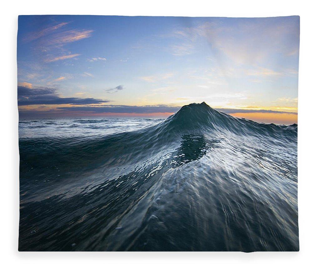 Rogue Wave Fleece Blanket featuring the photograph Sea Mountain by Sean Davey