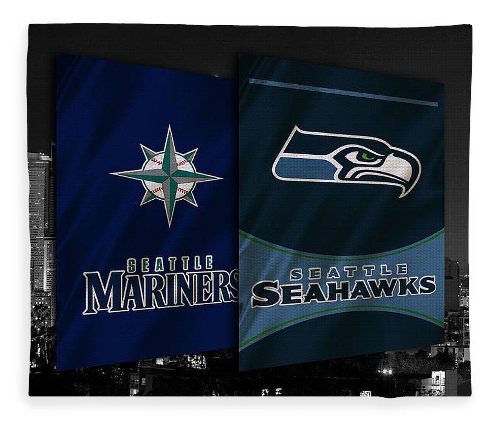 Seahawks Fleece Blanket featuring the photograph Seattle Sports Teams by Joe Hamilton