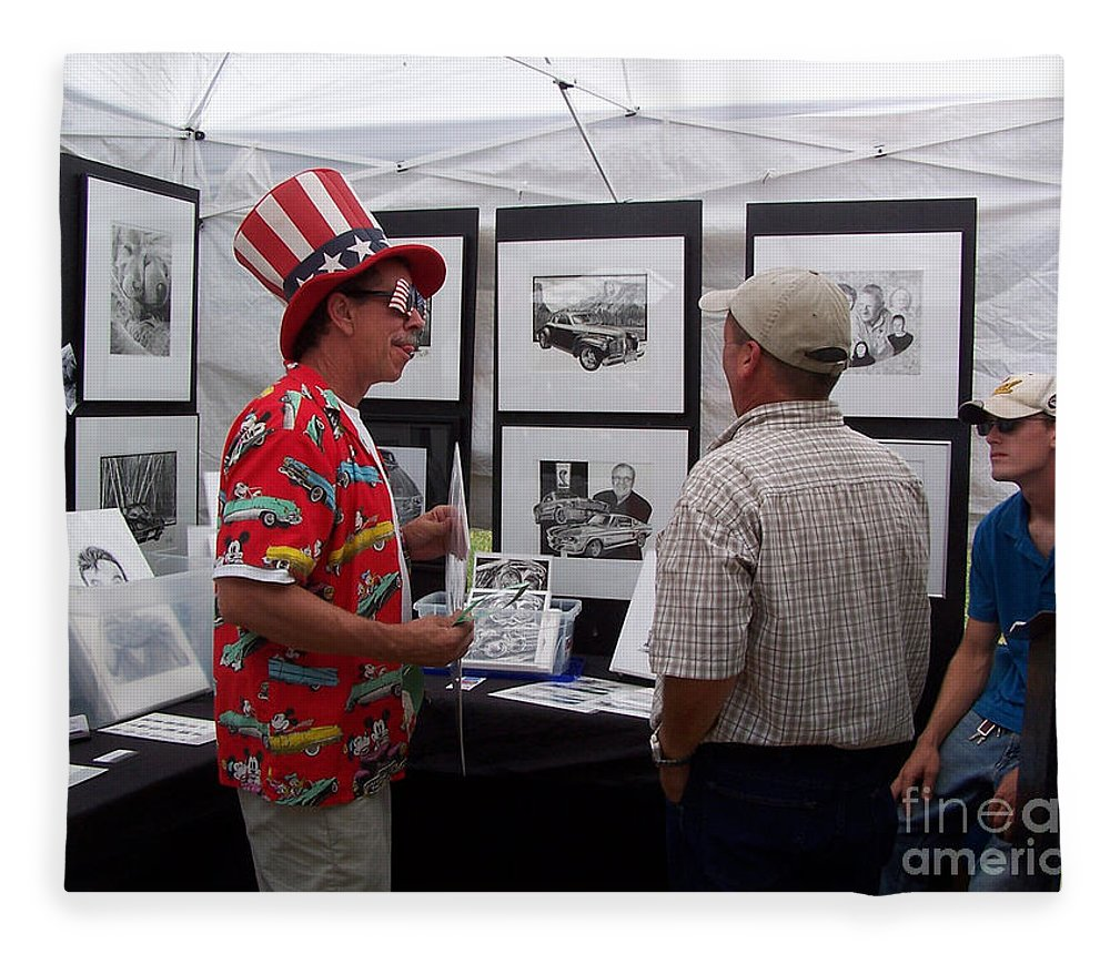 Bob Fitzgerald Fleece Blanket featuring the photograph Second Year Booth by Peter Piatt
