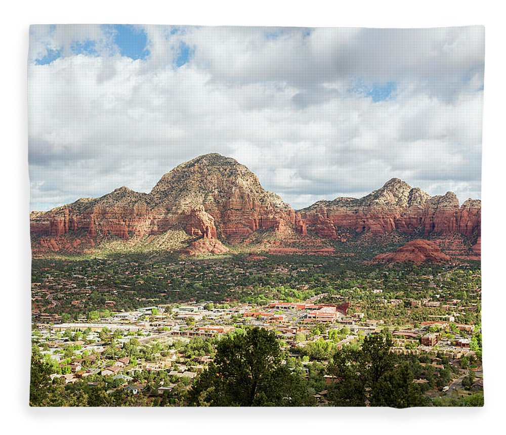 Scenics Fleece Blanket featuring the photograph Sedona, Arizona, From Above by Picturelake