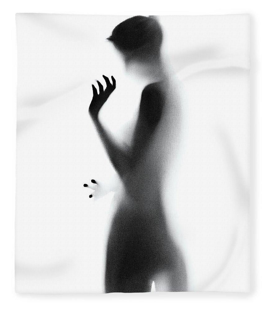 Shadow Fleece Blanket featuring the photograph Shadow by Azemdega