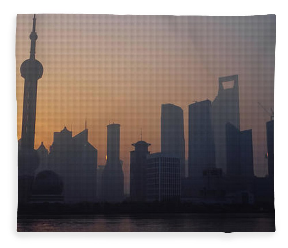 Tranquility Fleece Blanket featuring the photograph Shanghai In Early Morning by Xijia Cao