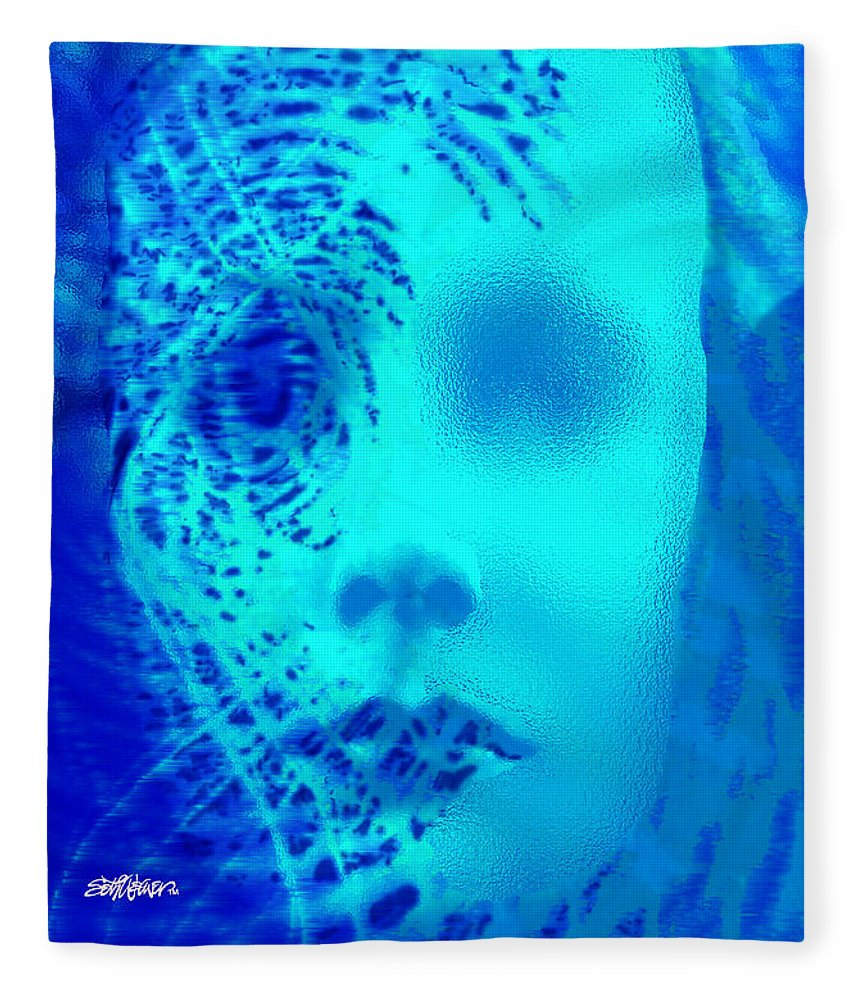 Shattered Doll Fleece Blanket featuring the digital art Shattered Doll by Seth Weaver