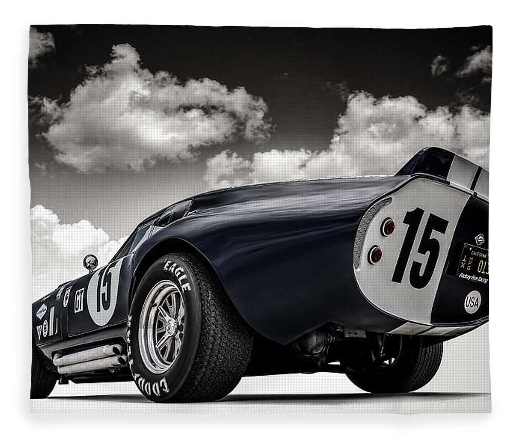 Shelby Fleece Blanket featuring the digital art Shelby Daytona by Douglas Pittman