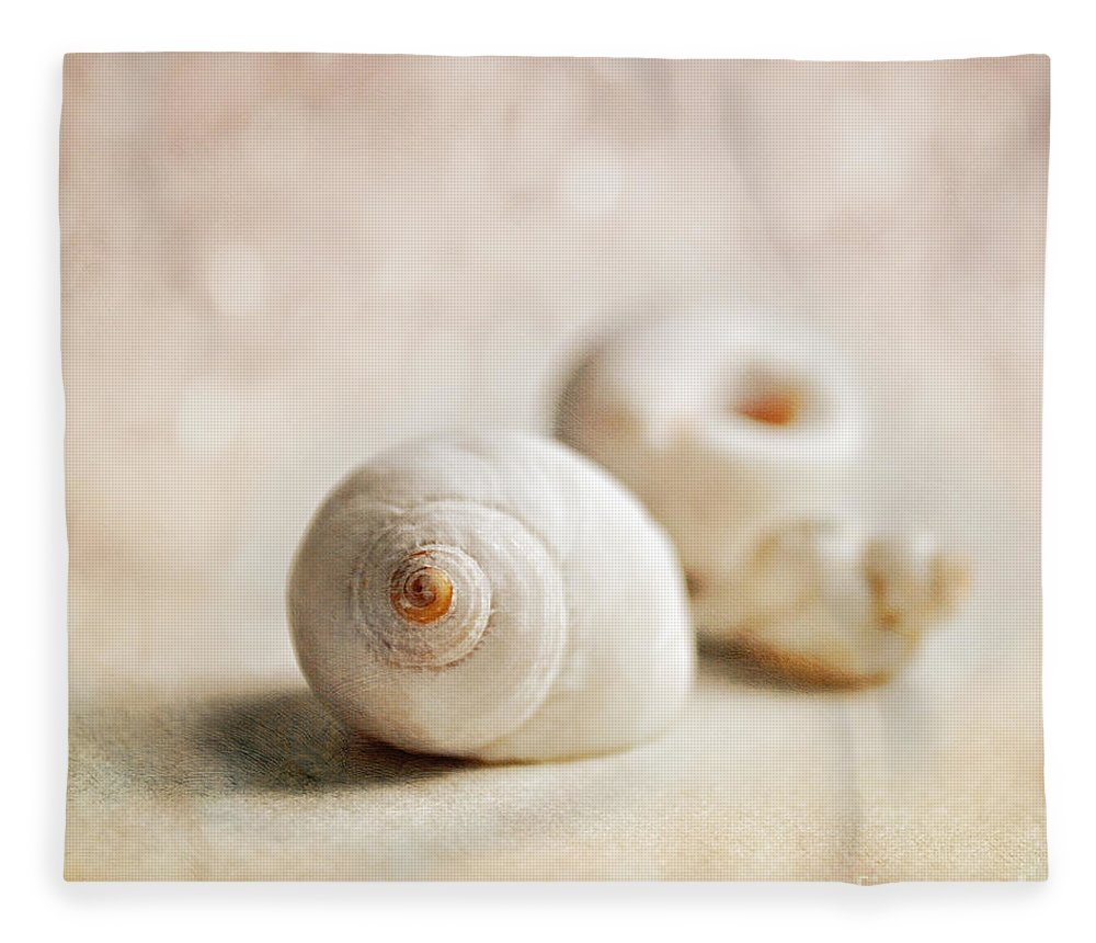 Shells Fleece Blanket featuring the photograph Shells by Lyn Randle