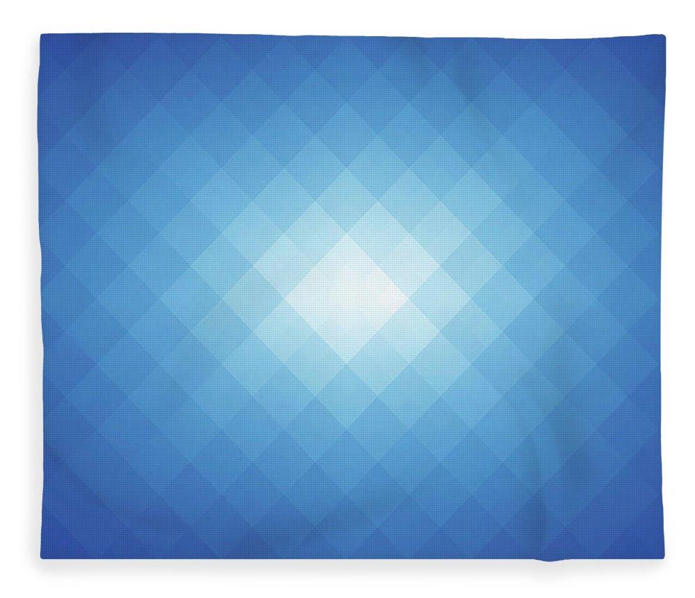 Empty Fleece Blanket featuring the digital art Simple Blue Pixels Background by Simon2579
